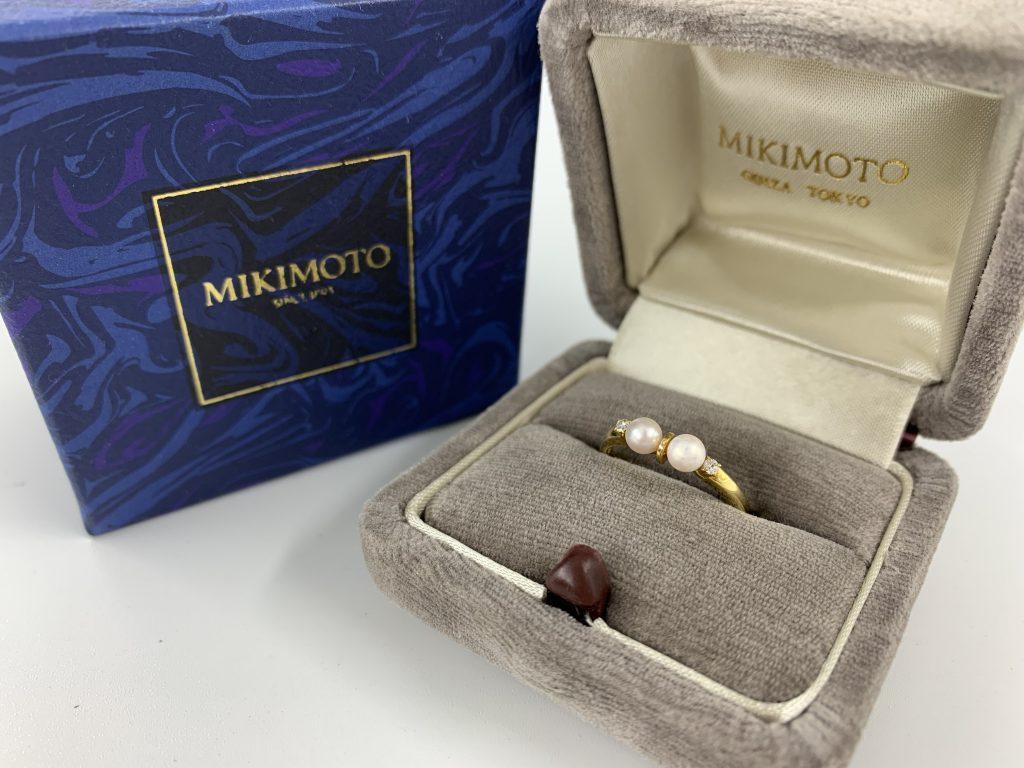 ミキモト パールダイヤリング 真珠